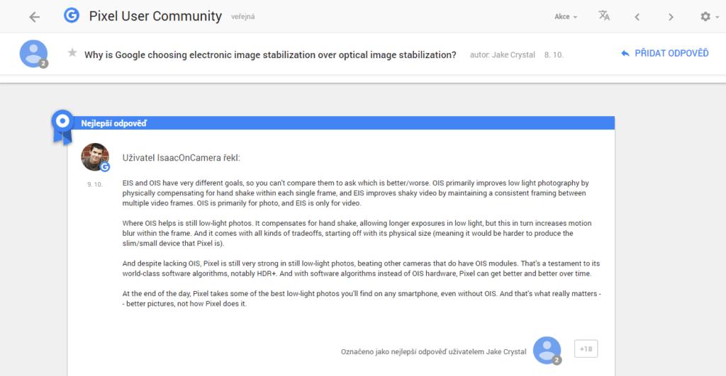 IsaacOnCamera vysvětluje, proč telefony Google Pixel nemají optickou stabilizaci obrazu