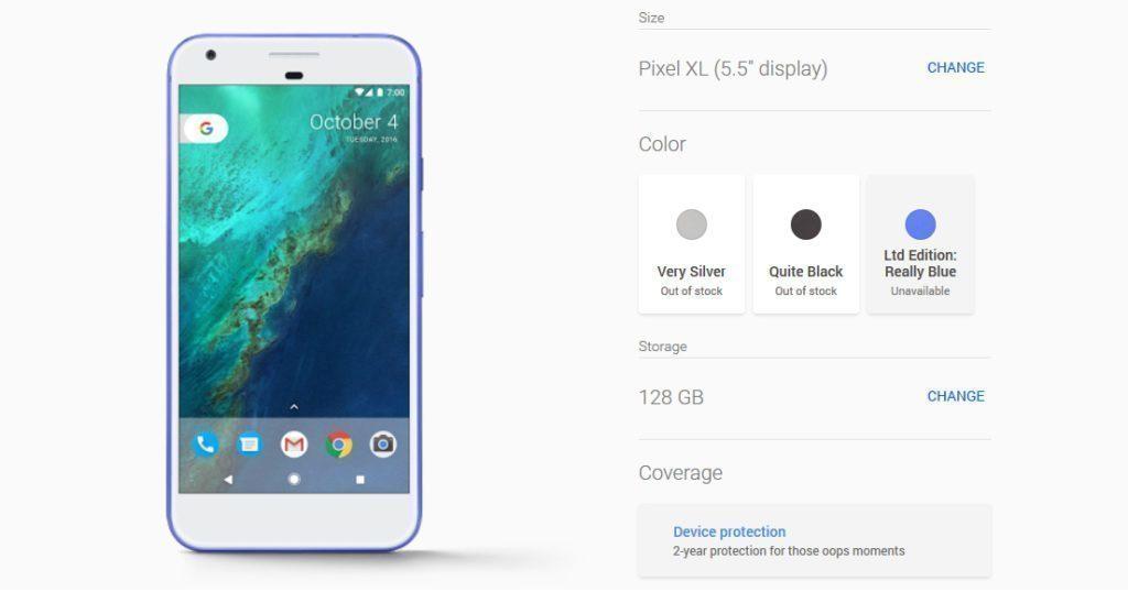 Telefon Pixel XL ve 128GB verzi je vyprodán