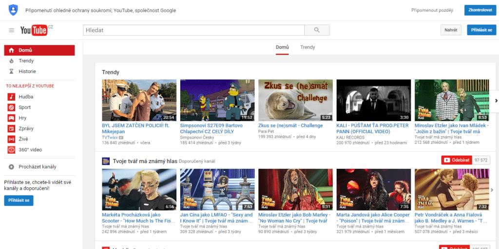 Takto vypadá YouTube dnes