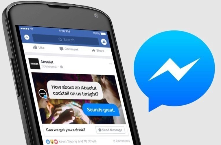 Aplikace Facebook Messenger reklamy