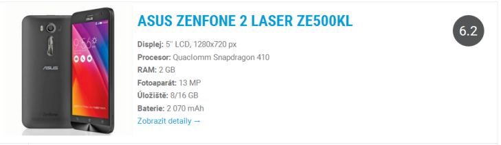 Asus zenfone 2 laser - katalog