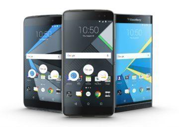 BlackBerry DTEK50, DTEK60 a Priv (zleva)