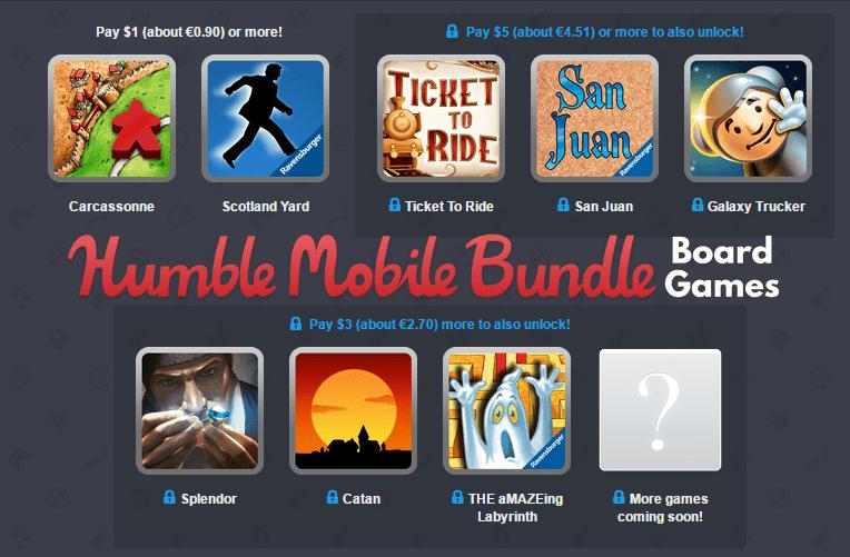Deskové hry Humble Bundle