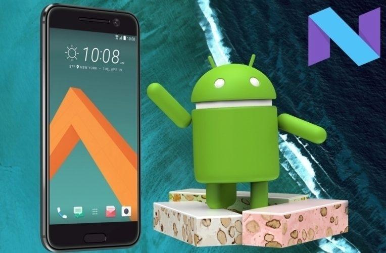 Telefon HTC 10 a Nougat