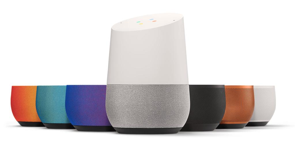 Google Home barevné kombinace
