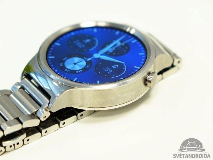 Huawei Watch - konstrukce, tlačítko