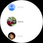 Huawei Watch – prostředí systému,  kontakty