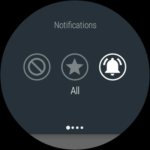 Huawei Watch – prostředí systému, vysouvací lišta