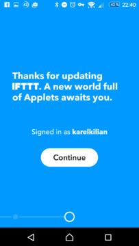 Úvodní přivítání v nové verzi aplikace