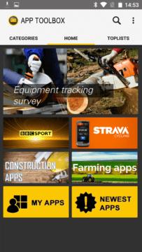 CAT S60 aplikace App ToolBox