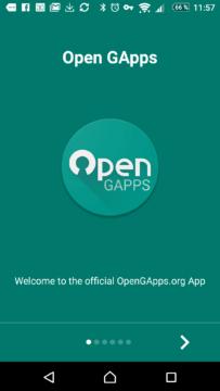 Aplikace Open GApps