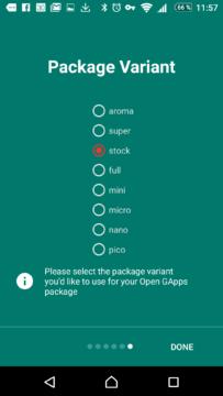 Volba balíčku