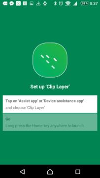 První spuštění aplikace Clip Layer