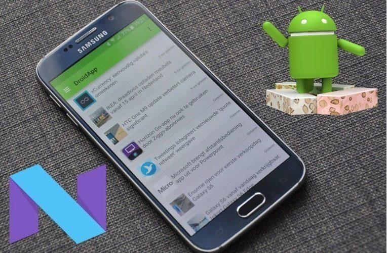 Telefon Galaxy S6 nougat