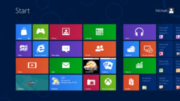 Windows 8 vsadily na dlaždice