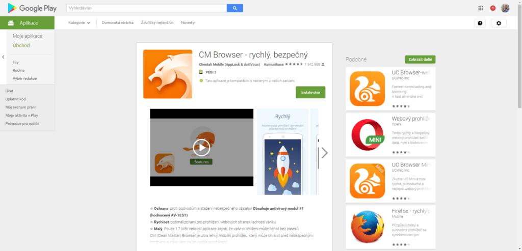 CM Browser má přes 50 milionů instalací. Opravdu?