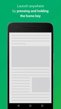 Aplikaci vyvoláte dlouhým stiskem tlačítka Domů