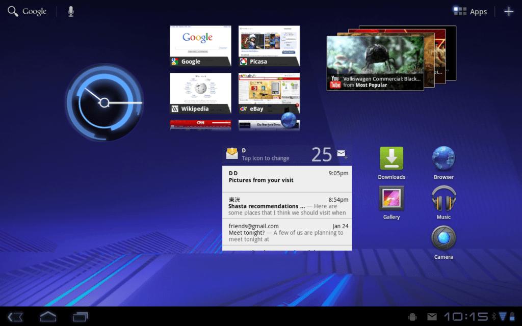 Grafika Androidu 3.0 byla ve své době revoluční