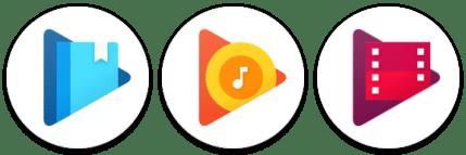 Kruhové ikony aplikací Google Play
