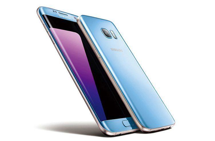 Korálově modrý Samsung Galaxy S7 Edge