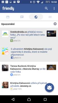Zobrazení upozornění v aplikaci