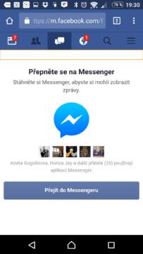 Messenger není podporován