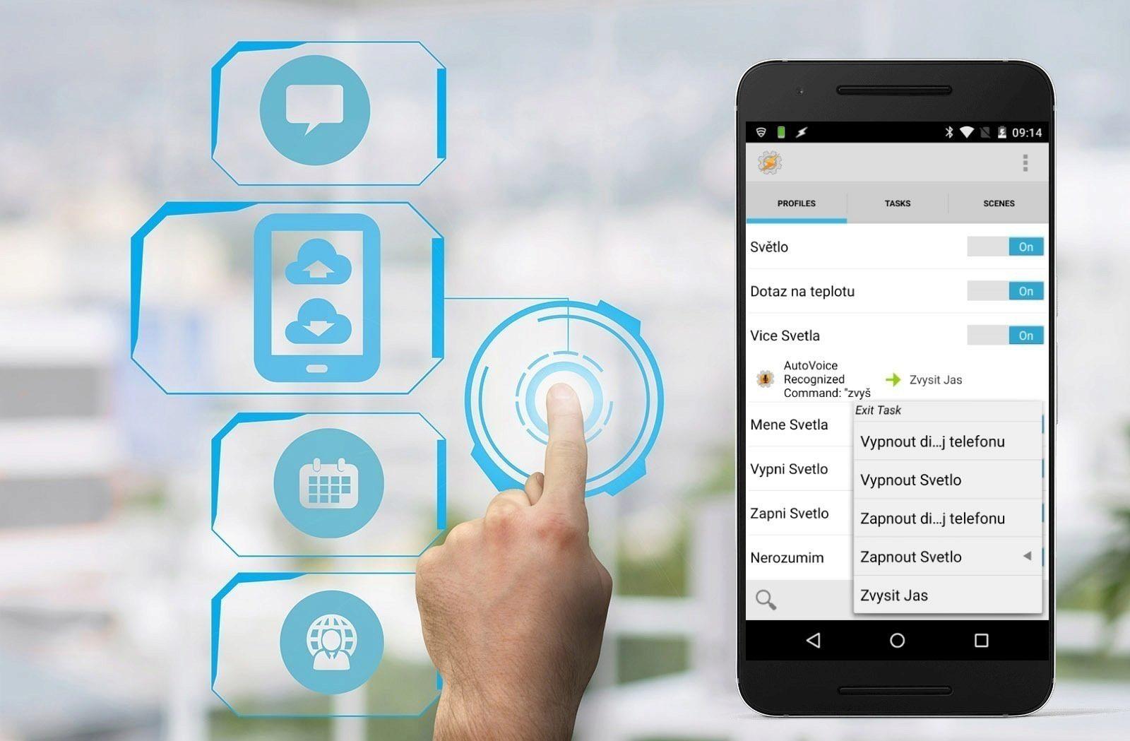 smart home s aplikací tasker