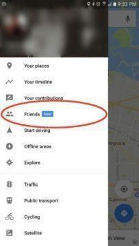 Nová položka Friends pro sdílení polohy s přáteli