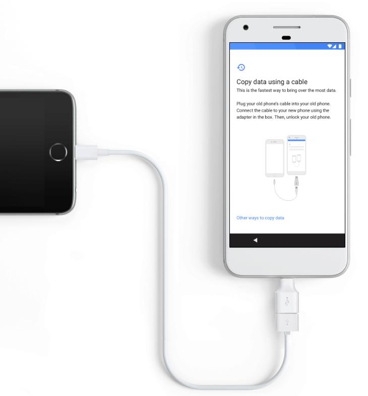Kabel pro přenos dat z iOS do Androidu