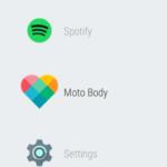 Motorola Moto 360 (2015) – systém Android Wear, menu 3