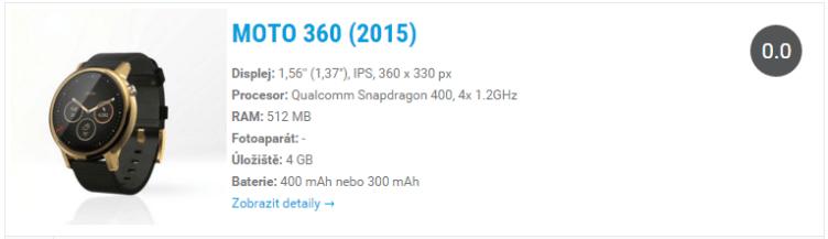 Motorola Moto 360 (2015) - widget, katalog