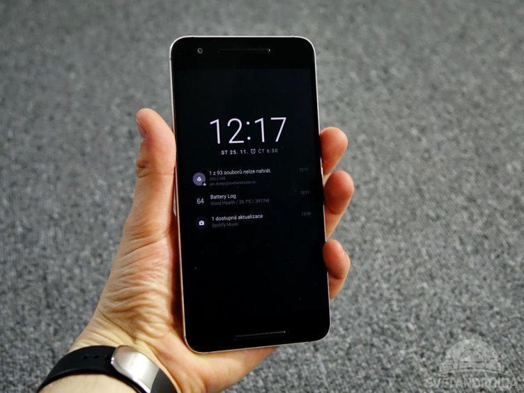 Nexus 6P - aktivní displej
