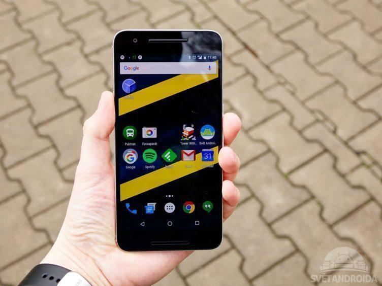 Nexus 6P - displej, čitelnost
