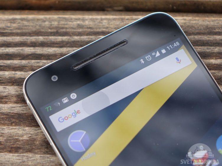 Nexus 6P - horní reproduktor