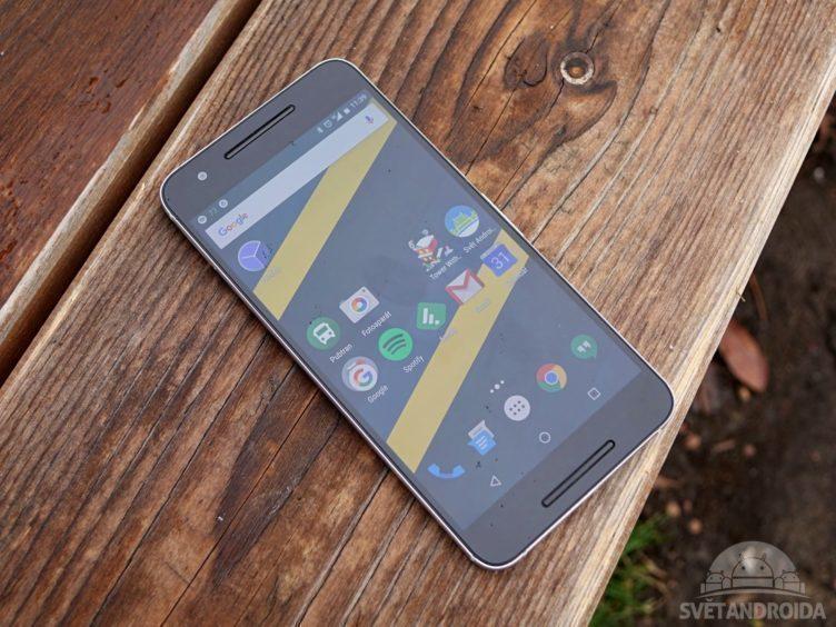 Nexus 6P - konstrukce, přední strana