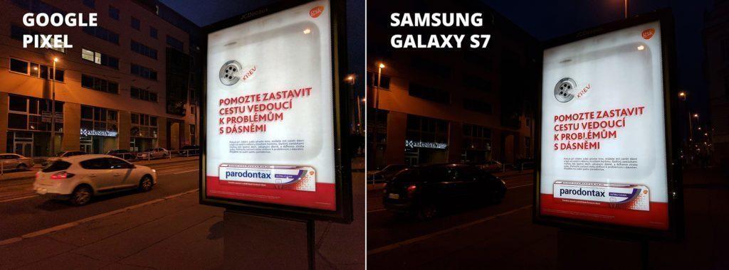 Takto fotí Google Pixel ve srovnání se Samsungem Galaxy S7 (Foto: Jan Dolejš)