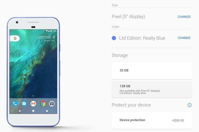 Modrý Google Pixel je opět k dostání v Google Store