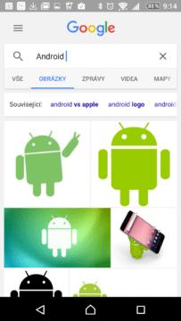 Vyhledávání Google se starým našeptávačem