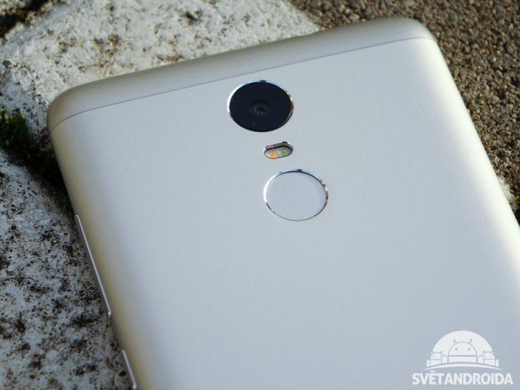 Xiaomi Redmi Note 3 - konstrukce, čtečka otisků prstů