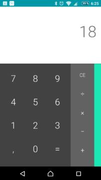 Kalkulačka Google ve verzi 7.1.1