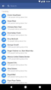 Aktualizace Facebooku - Trendy