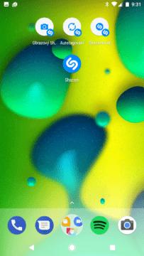 Aplikace Shazam – nové zkratky na ploše (1)