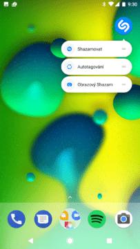 Aplikace Shazam – nové zkratky na ploše (2)