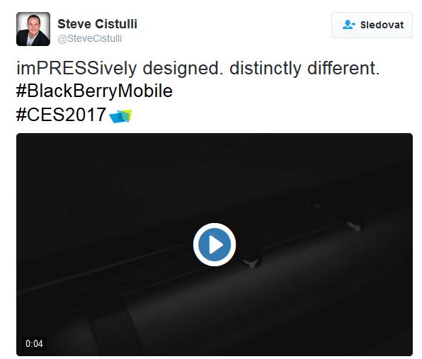 Steve Cistulli prozradil telefon s hardwarovou klávesnicí