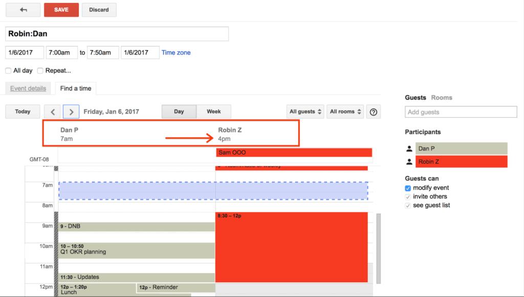 Webový Kalendář Google upozorní na čas jednotlivých účastníků