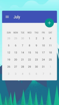 Month: Widget Kalendáře