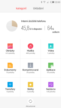 Nubia Z11 file manager