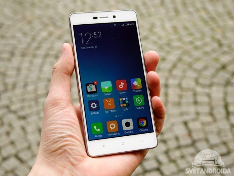 Xiaomi Redmi 3 - konstrukce, držení v ruce
