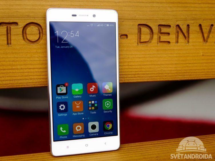 Xiaomi Redmi 3 - konstrukce, přední část telefonu (1)