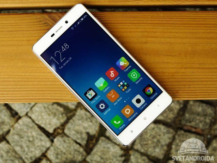 Xiaomi Redmi 3 - konstrukce, přední strana